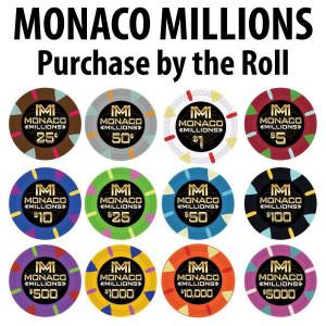 Monaco Millions Poker Chip Rolls