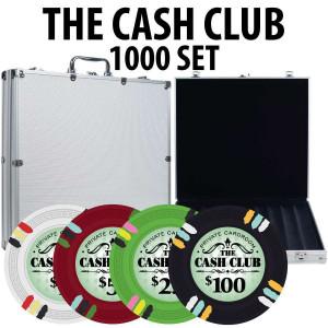 Cash Club 1000 Poker Chip Set W/ Aluminum Case