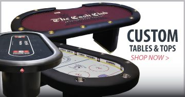 Premium casino quality custom poker tables designed by you, built for you to suite your gaming style.