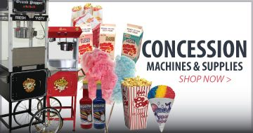 Popcorn Machines, popcorn supplies, Cotton Candy Machines and Snow Cone Machines