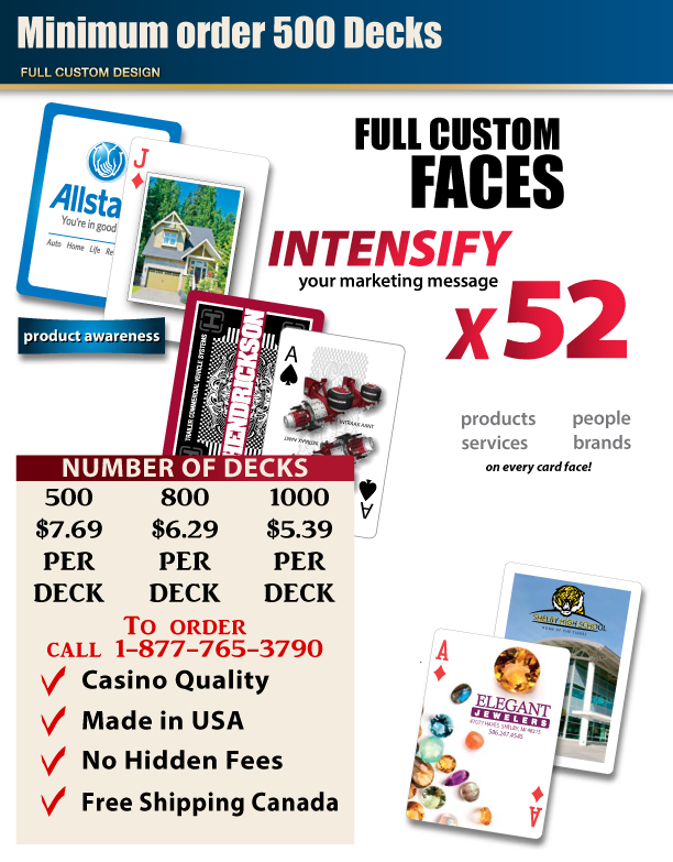 Custom Playing Cards Custom Faces