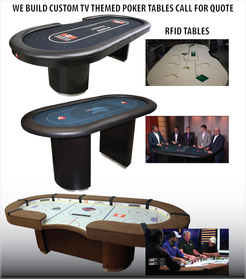 Custom Built TV poker tables