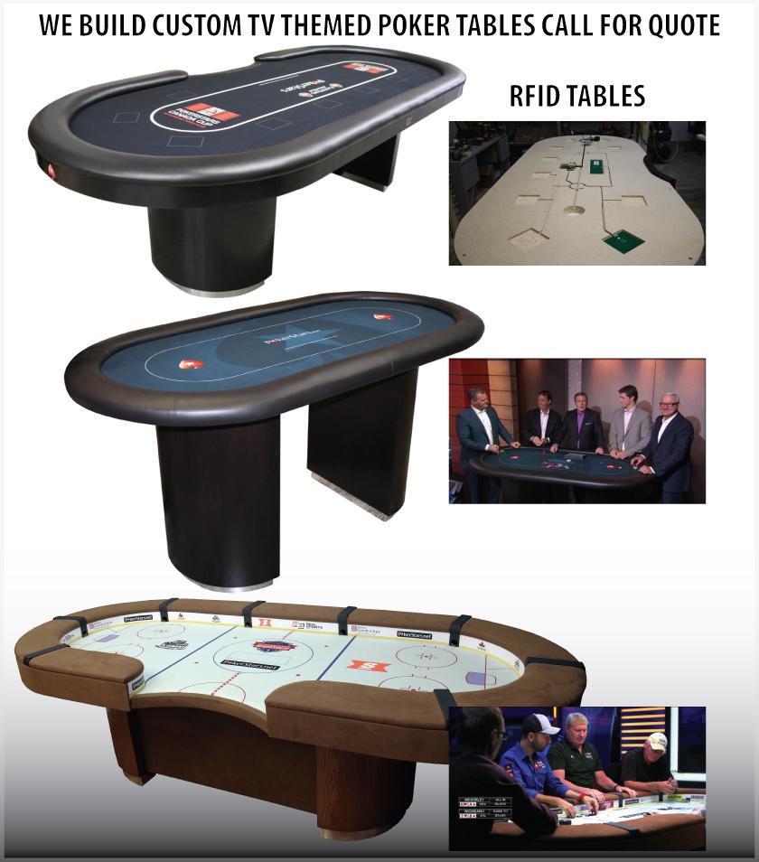 Custom Built TV poker tables