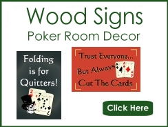 Wood Poker Room Signs