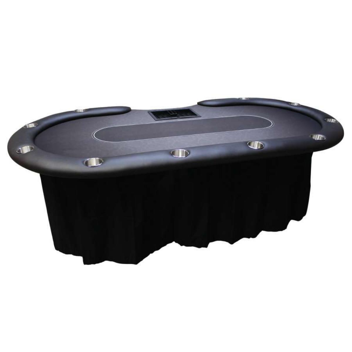 Poker table skirts blackjack table skirts for Poker table 6 ou 9