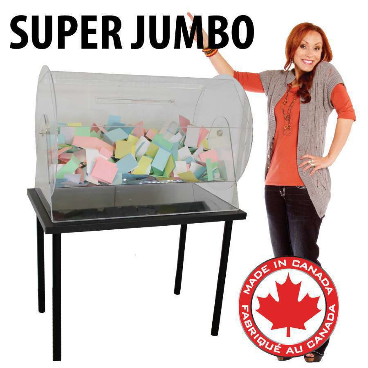Jumbo Raffle Drum Draw Drum Straight Poker Supplies