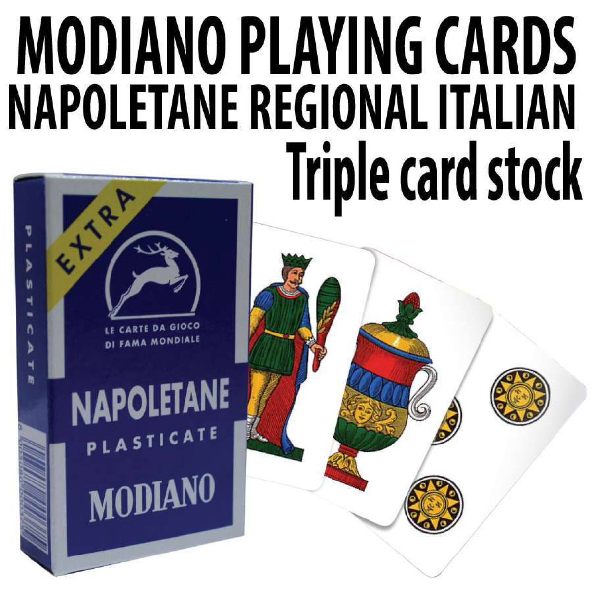 Modiano Card Italian Playing Cards Straight Poker Supplies
