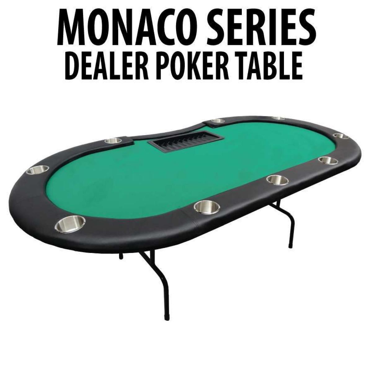 Green Folding Dealer Poker Table