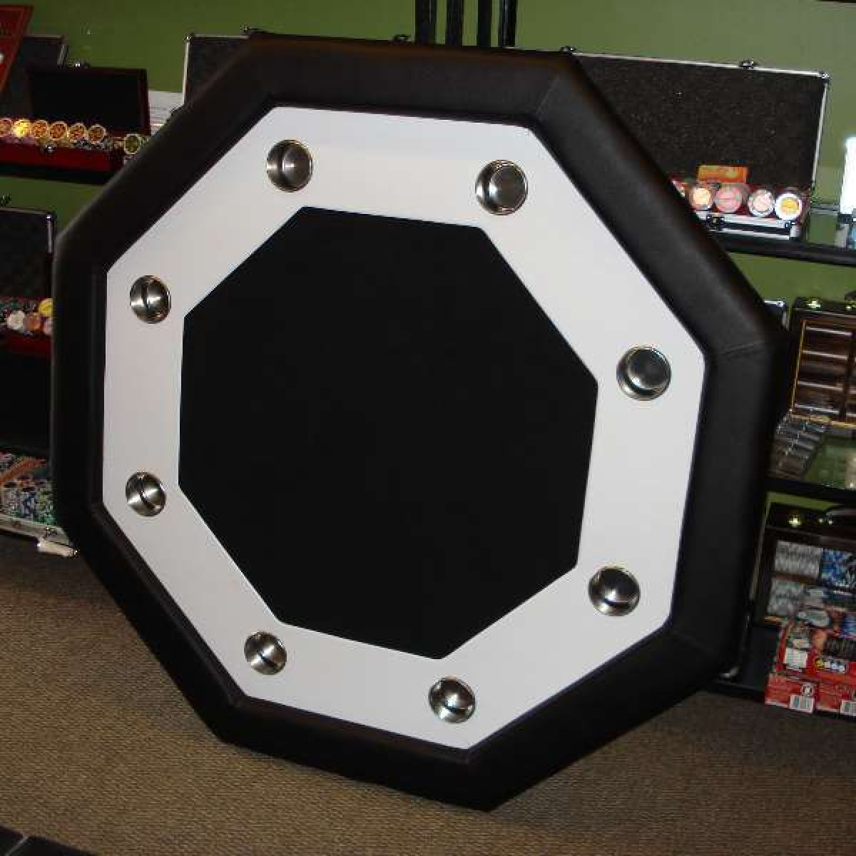 ... Octagon Poker Table Side View ...