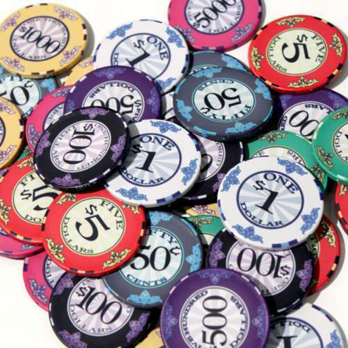 Scroll Ceramic Poker Chip Ceramic Poker Chips Straight