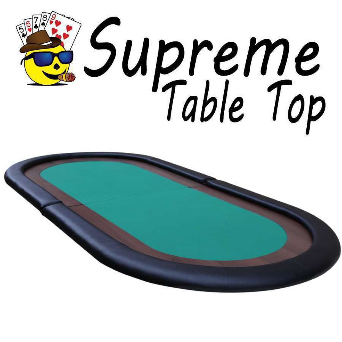 Supreme Poker Table Top With Padded Playing Surface GREEN