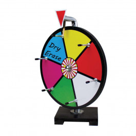 12 Inch Mini Dry Erase Colour Prize Wheel Entry Level