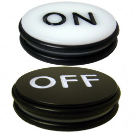 "Craps ON OFF 3"" double sided button"
