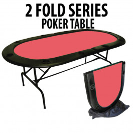 2 Fold Series 10 Player Folding Poker Table RED