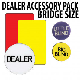 Poker Dealers Accessory pack : With Narrow Size cut cards