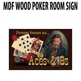Poker Room art decor Wood Poster Signs : Wild Bill