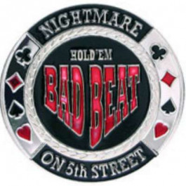 Poker Protector Card Guard Cover in Capsule :  Bad Beat Nightmere on 5th Street