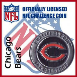 Poker Protector Card Guard Cover : NFL Chicago Bears