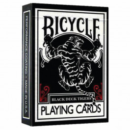 Bicycle Playing Cards Black Tiger Red