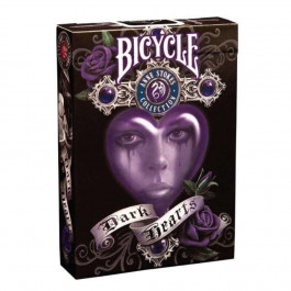 Bicycle Playing Cards DARK HEARTS Plastic Coated Cards