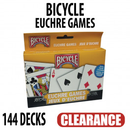 Bicycle Playing Cards Euchre 72 Packs of 2 Total 144 Decks CLEARANCE
