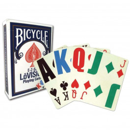 Bicycle Playing Cards LoVision Plastic Coated Cards Blue- Clearance