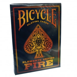 Bicycle Playing Cards FIRE Plastic Coated Cards