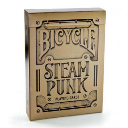Bicycle Playing Cards STEAMPUNK BRONZE GOLD Plastic Coated Cards