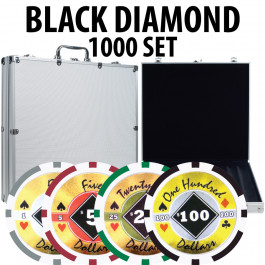 Black Diamond Poker Chips 1000 W/ Aluminum Case