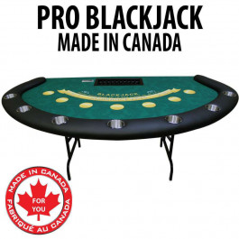 Pro Blackjack table with Casino Dye Sublimation Cloth Steel Legs