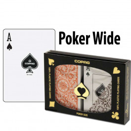 Copag Playing Cards Elite Poker Orange/Brown Regular Index