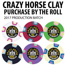 2017 Crazy Horse Clay Poker Chips : 10g Chips : Sold by the roll