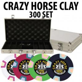 2017 Crazy Horse 300 Poker Chips W/ Aluminum Case