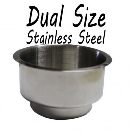 Stainless Steel Dual size Cup Holder for Poker or Blackjack Table