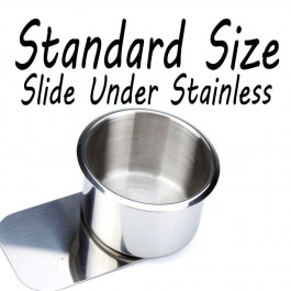Stainless Steel Slide Under Cup holder for Poker or Blackjack Table Standard Size