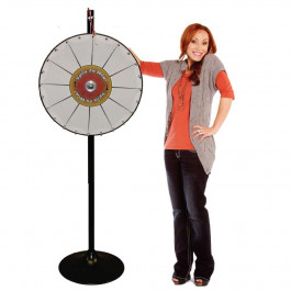 24 Inch Pocket Insert Customizable Prize Wheel with Bonus Extension Base
