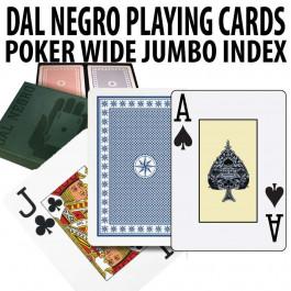 Dal Negro Texas Holdem Plastic Playing Cards Poker Jumbo index