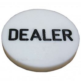 White Plastic Dealer Button