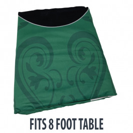 Dye Sublimation Casino Poker Table Cloth - GREEN ELITE Design for 8 x 4 foot table