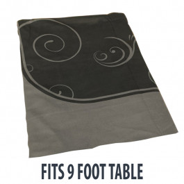 Dye Sublimation Casino Poker Table Cloth - BLACK GRAND Design for 9 x 4 foot table