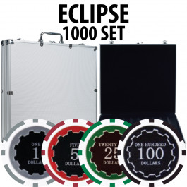 Eclipse Poker Chips 1000 W/ Aluminum Case