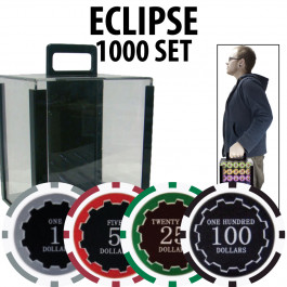 Eclipse Poker Chips 1000 W/ Acrylic Carrier with Racks