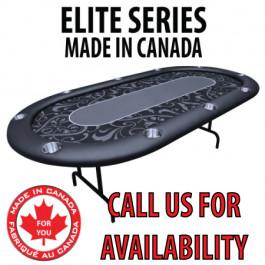 POKER TABLE SPS ELITE - Black Full Bumper Table With Steel Folding Legs