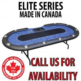 POKER TABLE SPS ELITE - Blue Dealer Table With Steel Folding Legs