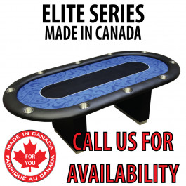 POKER TABLE SPS ELITE - Blue Full Bumper Table With Box Style Legs