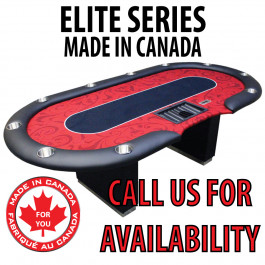 POKER TABLE SPS ELITE - Red Dealer Table With Box Style Legs