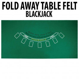 Blackjack Table Felt : Green