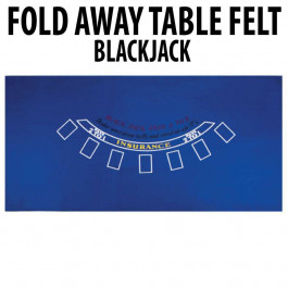 Blackjack Table Felt : Blue