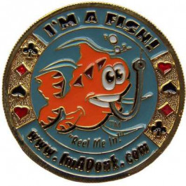 Poker Protector Card Guard Cover in Capsule :  I'm a Fish