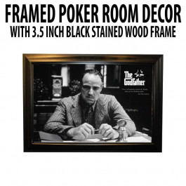 Poker Room art decor Framed Art  : The Godfather